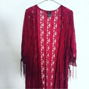 Beautiful Long Lace Shawl with Sleeves